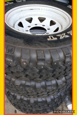 LT235/85R16 wheels/snow tires 8 holes chevy, E250, Dodge Ram for Sale in Vancouver, WA
