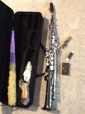 Mendini Soprano sax MSS-BNN with carrying case for Sale in York, PA