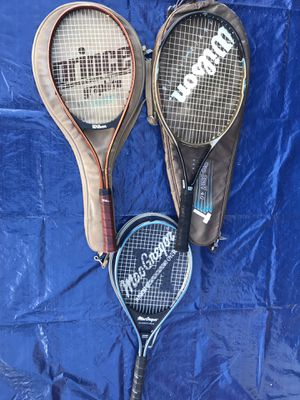 Tennis racket lot of 3 for Sale in Arlington, VA