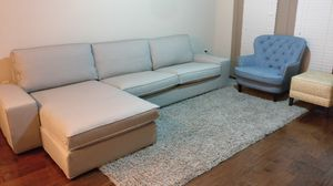 Ikea KIVIK sectional, 4-seat-with Chaise, orrsta light gray color, for Sale in Herndon, VA