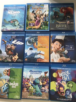Collection of Disney Pixar DVD + Blu Ray for Sale in Spring Hill, TN