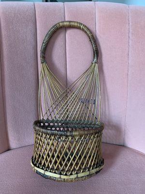 Bohemian vintage wall basket for Sale in Denver, CO