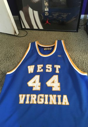 dd6fb1e59df4 Hard wood classics West Virginia Stitched college jersey. for Sale in  Hayward
