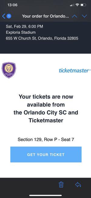 Orlando city ticket for Sale in Orlando, FL