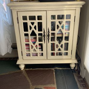 White Wood Storage Cabinet for Sale in Hillsdale, NJ