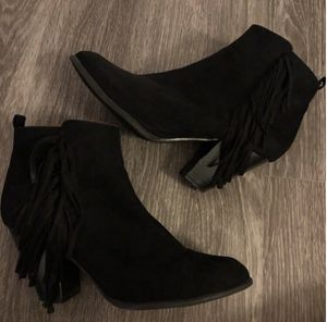 Fringe Suede Ankle Booties for Sale in Modesto, CA