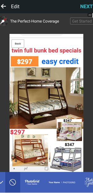 BRAND NEW TWIN FULL BUNK BED ADD MATTRESS TWIN AND FULL ADD FURNITURE AVAILABLE LITERA INDIVIDUAL MATRIMONIAL for Sale in Pomona, CA