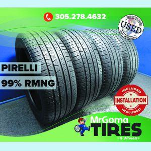 4 PIRELLI SCORPION VERDE ALL SEASON AO 255/45/20 USED TIRES 99% RMNG 2554520 for Sale in Miami, FL