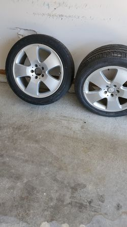 2 rims and slightly used tires, fits Mercedes-Benz S550 for Sale in Bloomington,  IL