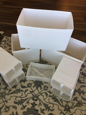 IKEA CLOSET ORGANIZERS 14 piece set for Sale in Columbia, MD