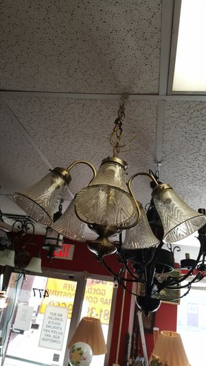 Hanging light fixture chandelier for Sale in Medford, MA