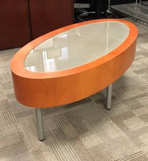 Oval coffee table from office for Sale in Campbell, CA