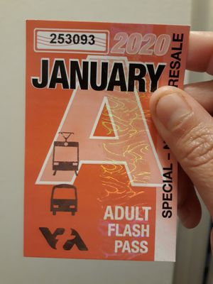 VTA bus pass for January 2020 for Sale in San Jose, CA