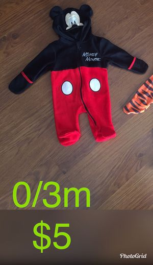 Mickey Mouse halloween costume 0/3m for Sale in Coral Springs, FL