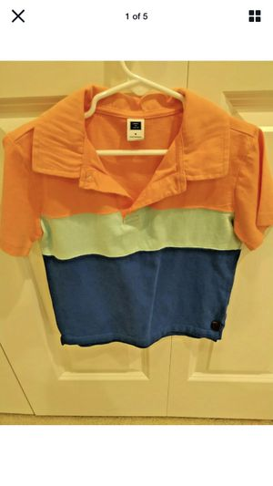 NWOT Janie and Jack Boys Multi-Color POLO Shirt Short Sleeve Size 5 Peach/Blue for Sale in Renton, WA