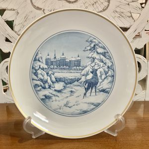 Antique Meissen Plate Depicting a Stag for Sale in Forney, TX