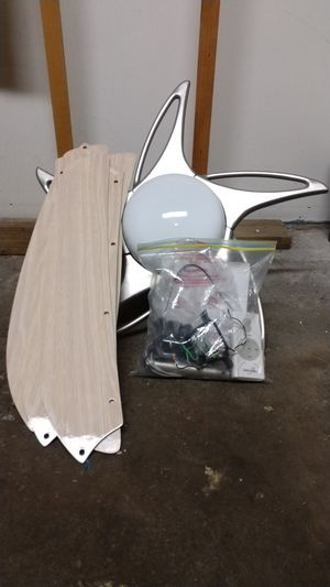 Minka Aire Ceiling fan - tan for Sale in Franklin Square, NY