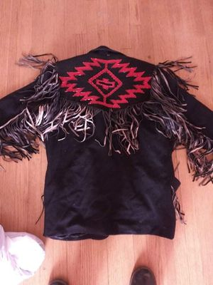 Black and red fringed jacket for Sale in Bakersfield, CA