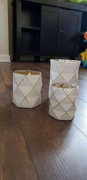 Set of 3 plant pots/candle holders for Sale in Spring Hill, TN