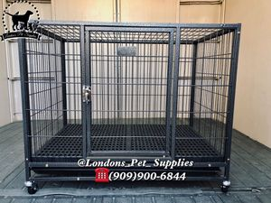 """NEW! 37"""" Plastic Floor Grid Heavy-Duty Dog Cage (Kennel) (Crate) for Sale in Colton, CA"""