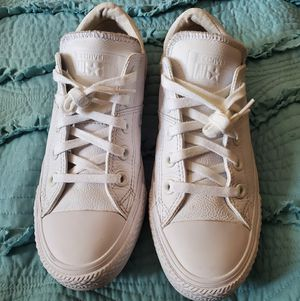 White Leather Converse for Sale in Downers Grove, IL