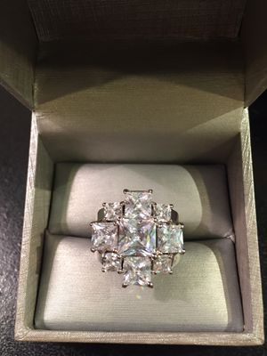 High Quality 14K Gold plated Radiant Cut Ring- Emerdad for Sale in Dallas, TX