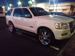 07 Ford explorer l....22s....toyo tires....sunroof..$5k clean title for Sale in Las Vegas, NV