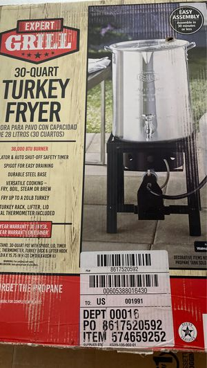 Expert grill turkey fryer for Sale in Clifton, NJ