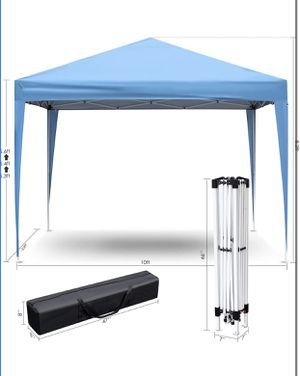 GARTIO Pop Up Canopy Tent, Portable Commercial Instant Shelter, Adjustable Height Outdoor Event Gazebos with 4 Removable Sidewalls and Carry Bag, for for Sale in Alhambra, CA