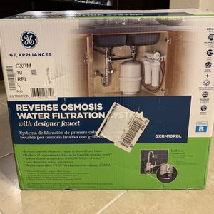 GE Reverse Osmosis Water Filtration System - Open Box Brand New for Sale in Garland, TX