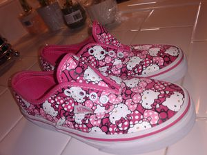 Will negotiate! Size 1 youth. Hello Kitty vans shoes for Sale in Redondo Beach, CA