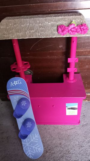 """American Girl Kanani Shaved Ice Stand and Snowboard for 18"""" Doll Toy for Sale in City of Industry, CA"""