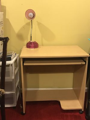 Desk with lamp for Sale in Springfield, VA