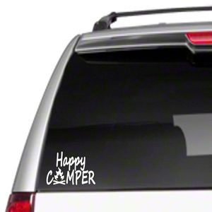 Happy Camper (white or gray car decor) for Sale in Columbia, MD
