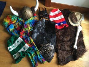 Assorted Costumes - Batman, Caveman, Viking Hat, Clown for Sale in Steilacoom, WA