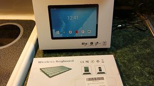 Tablet, wireless keyboard and mouse+ 128gig micro SD card for Sale in Morgantown, WV