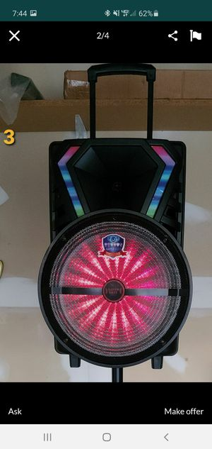 """New 15"""" subwoofer rechargeable, bluetooth, tf aux sd,usb mp3, remote control, microphone for Sale in Riverside, CA"""