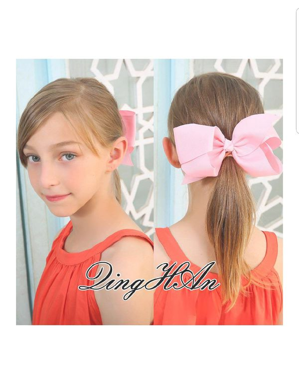 6 inch Hair Bows For Girls Grosgrain Ribbon Large Boutique Bow Alligator Clips Teens Kids Pack Of 20