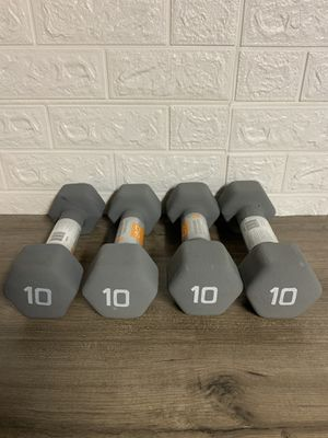 10 lbs dumbbell set each set $40 for Sale in Warren, MI