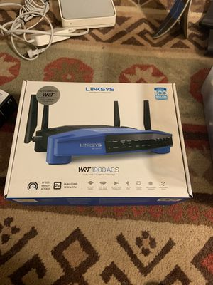 Linksys WRT1900ACS dual band wireless router in original box for Sale in Portland, OR