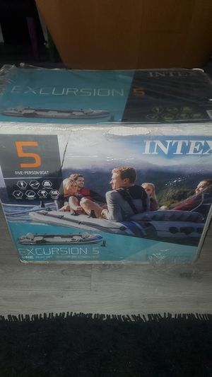 Intex Excursion Inflatable Boat Series 5-person for Sale in Pembroke Pines, FL