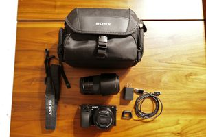 Sony A6000 APSC mirrorleaa camera with two lenses (16-50mm & 55-210mm) for Sale in Baltimore, MD