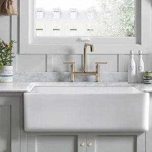 3320-Farmhouse Kitchen Sink White Porcelain Ceramic for Sale in Azusa, CA