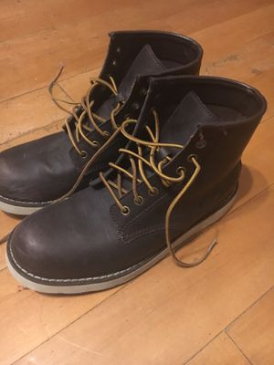 American Eagle Genuine Leather Chocolate Brown Boots, Size 9 for Sale in Hollywood, FL