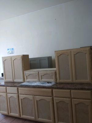 8ft kitchen cabinets set formaica countertop & sink for Sale in Monterey Park, CA
