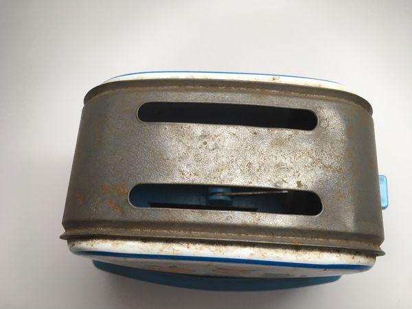 Vintage Metal Tin Toy Toaster Collectibles Oranges