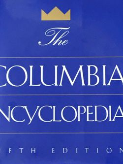 The Columbia Encyclopedia Fifth Edition ultimate reference book, the best one-volume encyclopedia, over 3000 pages 50,000 entries 65,000 cross-referen for Sale in Lansdale,  PA