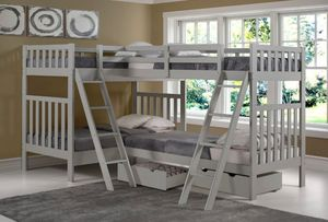 Twin over twin L shaped bed set for Sale in New York, NY