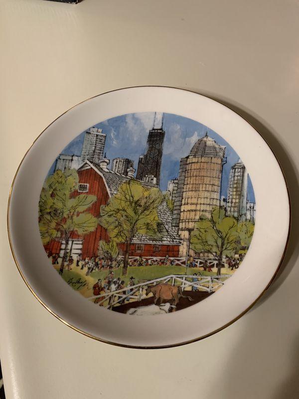 Collectible plates Chicago 1976 Franklin McMahon