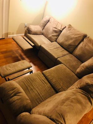 Recliner suede sofa for Sale in San Ramon, CA
